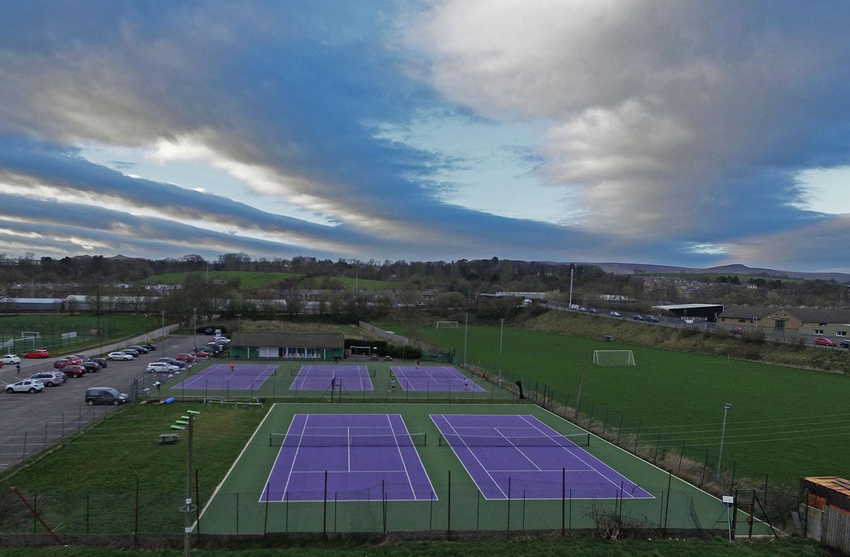 Skipton Tennis Centre aerial photo